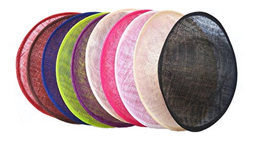 Lawliet 11.8 Round Saucer Vintage Inspired Percher Hat Fascinator millinery Base B056