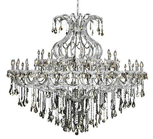 Karla Chrome Traditional 49-Light Grand Chandelier Swarovski Elements Crystal in Golden Teak -2381G72C-GT-SS--36