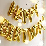 Happy Birthday Balloons, OUTGEEK Foil Balloons Letters Balloons Mylar Balloons for Birthday Party Decoration