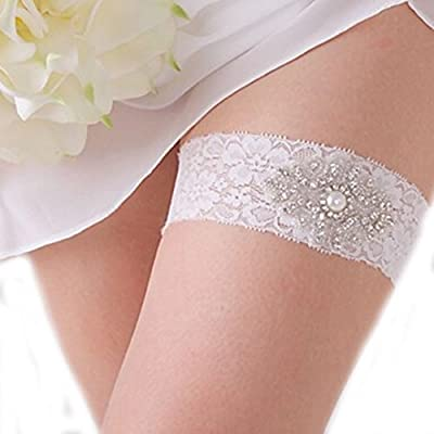 YABINA Wedding Accessories Faux Pearl Lace Garter for Bridal