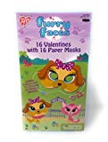 Furry Faces Valentine Cards for Kids with Masks - Pkg. of 16 (31858)
