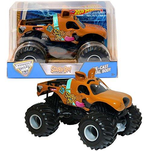 968 Steering - Hot Wheels Year 2017 Monster Jam 1:24 Scale Die Cast Metal Body Monster Truck - SCOOBY-DOO! with Monster Tires, Working Suspension & 4 Wheel Steering