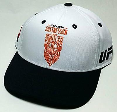 UFC Reebok MMA Alexander Gustafsson The Mauler White Black Sweden Snapback Hat Cap by Reebok