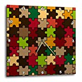 3dRose Sven Herkenrath Art - Trendy Colorful Puzzle Pattern Perfect Wallpaper or Background - 10x10 Wall Clock (dpp_281708_1)