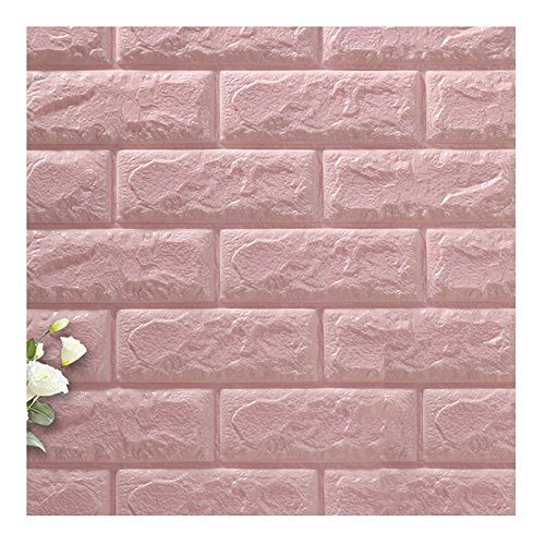 lovely Binglinghua 10pcs 3D Brick Wall Stickers Self-adhesive Panel ...