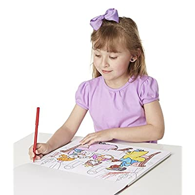 Melissa & Doug Magic-Pattern Marker Kids' Coloring Pad - Princesses, Ponies, Parties, and More: Melissa & Doug: Toys & Games