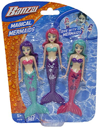 Fun Stuff Banzai Spring and Summer 3 Piece Magical Mermaid Dolls, in Assorted (Assorted Doll)