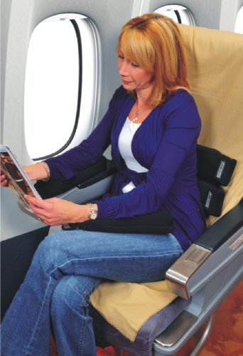 Anywhere Back and Lumbar Comfort Cushion with Memory Foam, Health Care Stuffs