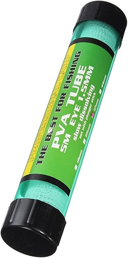 pushfocourag PVA Soluble Filet de p/êche 5/m Lot de Cartes Recharge bobines de Tube de PVA de p/êche Filet Sac App/ât Tackle Outil