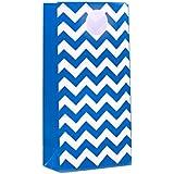 Dress My Cupcake 12-Pack Party Treat Bags, Chevron, Cobalt Blue