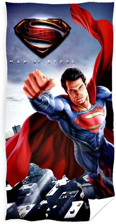 Asciugamano da bagno multicolore Superman 70 x 140 cm in cotone