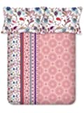 Bombay Dyeing Breeze 120 TC Cotton Double Bedsheet with 2 Pillow Covers -Peach