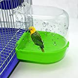 Parrot Bath Bird Bath Bird Accessory for Pet Parrots, Bird Cage Parrot Supplies Bathing Tub Bath Box for Birds