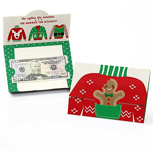 Ugly Sweater - Holiday & Christmas Money and Gift Card Holders - Set of 8 ()