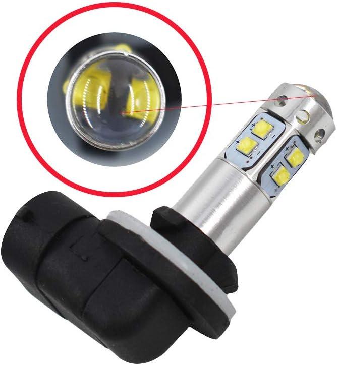 2pcs 881 100W LED 6000K White Headlight Bulb For 2009 2010 Polaris Ranger RZR 800 EFI