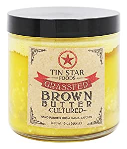 Tin Star Foods - 16 Oz Brown Butter Cultured Ghee