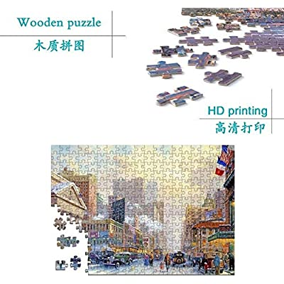 JINDAO Adult 300/500/1000/2000 Pieces of Wood Puzzle Pieces, Educational Toys Gifts Personality Creative Decorative Painting Candy Shop ( Size : 1000 ): Toys & Games