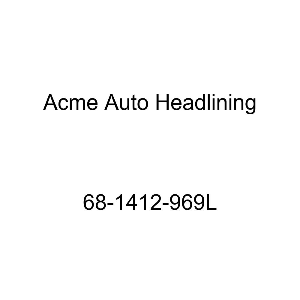 Acme Auto Headlining 68-1412-969L Black Replacement Headliner Chevrolet Caprice 2 Door Hardtop 6 Bow