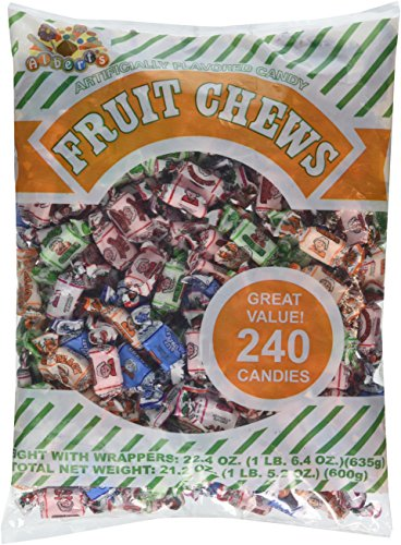 Albert's Chews Fruit Assorted Bag, 240 Piece, 21.2 oz. -