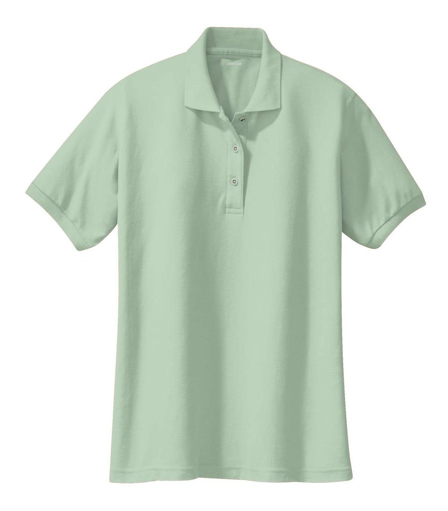Joe's USA tm Ladies Short Sleeve Polo Shirt-Mint Green-L