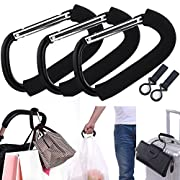 APURSUE 3 Pack X-Large Stroller Hook for Mommy, Hanger Organizer Baby Accessories for Hanging Diaper, Shopping Bags, Purses. Fits Single/Twin Baby Stroller Travel Systems, Baby Joggers and Wheelchairs