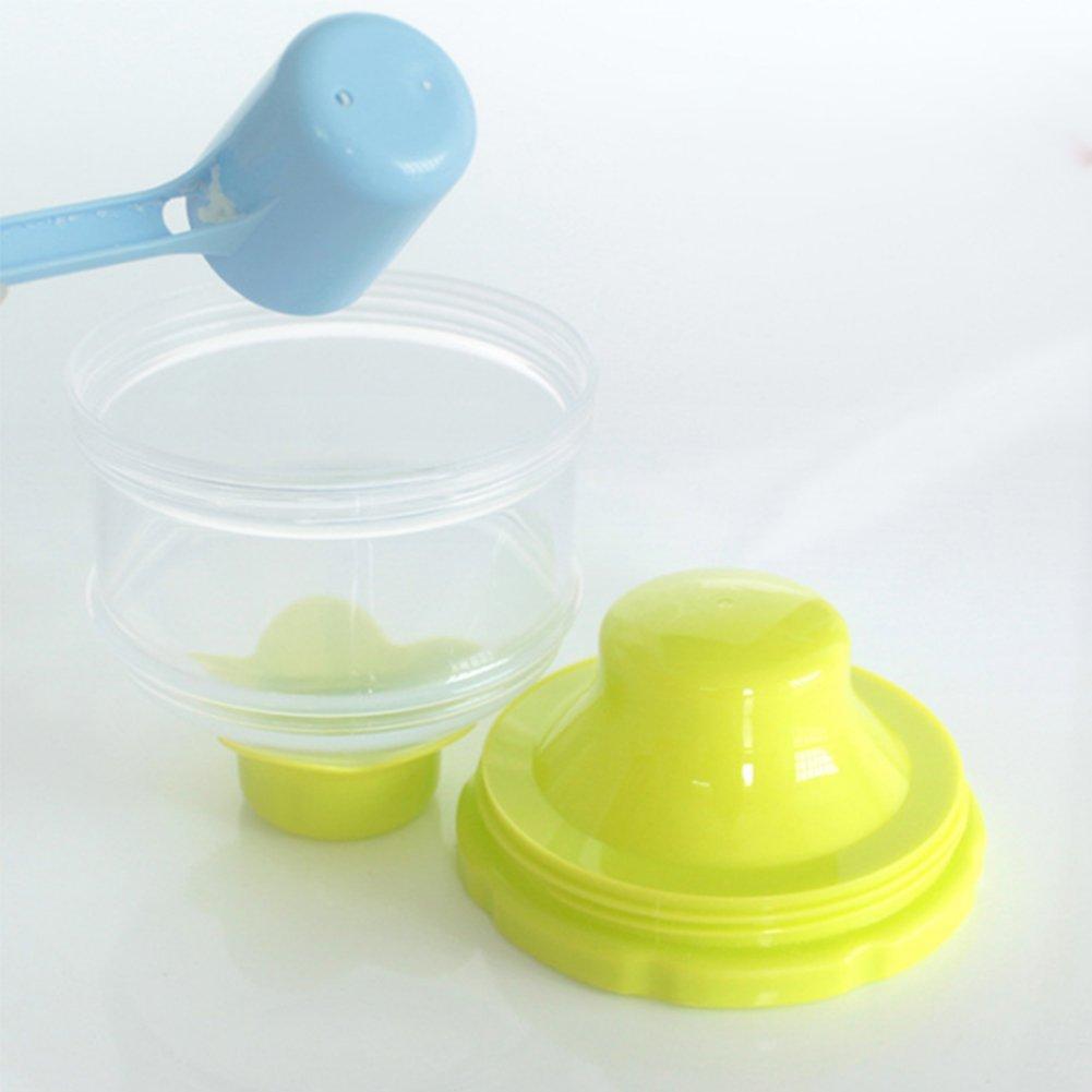 Newin Star Contenedor de polvo de leche 3 capas Dispensador de leche en polvo para beb/é Contenedor de almacenamiento de viaje para beb/é con mango Contenedor de almacenamiento apilable sin derrame