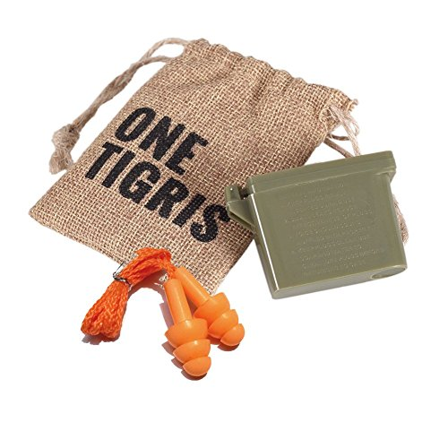 e9d8128285 OneTigris Tactical Reusable Ear Plugs for Hearing Protection Shooting Ear  Plugs + Carrying Case - Buy Online in UAE.