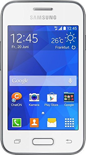 Samsung Galaxy Young 2 Smartphone 8 89 Cm 3 5 Zoll Touchscreen 3 2 Megapixel Kamera 1 Ghz Single Core Prozessor Android 4 4 Weiss