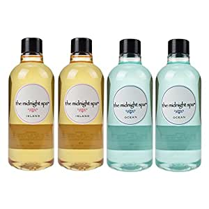 Hot Tub Accessories - Spa and Bath Aromatherapy Scents - The Midnight Spa Island (2) and Ocean (2) Fragrance 4-pack