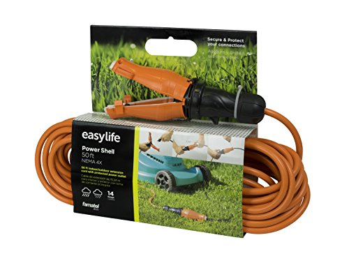 50 ft Extension Cord with Connector Safety Seal Protector Weatherproof - 14/3 Gauge - Rated for Outdoors - ETL Listed by Easylife Tech (Image #9)