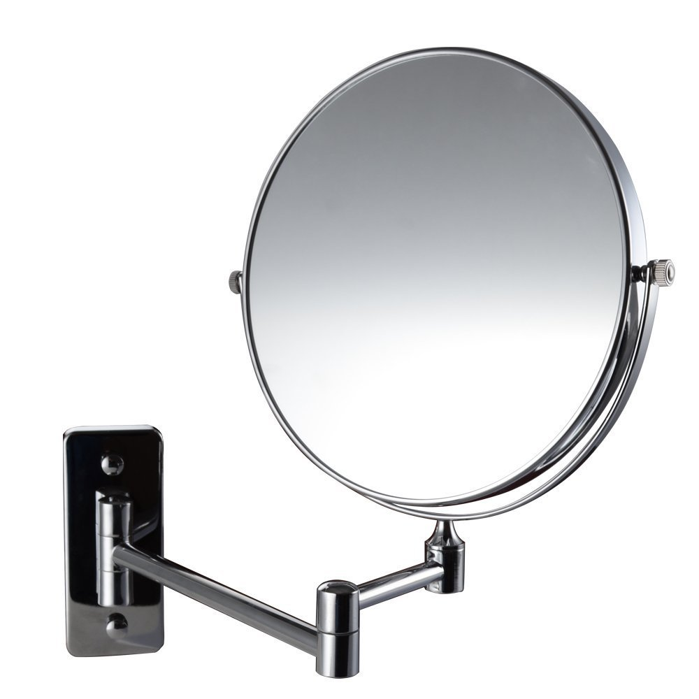 Magik 10x Magnification Two-Sided Swivel Wall Mount Mirror 8-Inch, Polished Chrome 10X