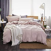 Dreaming Wapiti Duvet Cover Twin,100% Washed Microfiber 3pcs Bedding Set,Solid Color - Soft and Breathable with Zipper...