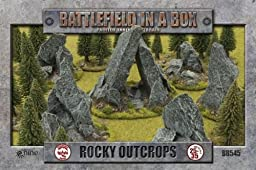 Battlefield In A Box Rock Outcrops (bb545, 6x Outcrops, 2x Static Grass)