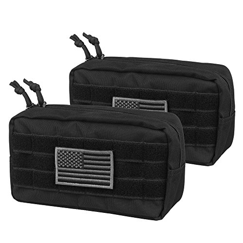 Pouch Waist Pack Utility (AMYIPO MOLLE Pouch Multi-Purpose Compact Tactical Waist Bags Utility Pouch (Upgrade 94.52.5 Molle Pouch (2 Pack)))