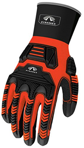 Pyramex Safety GL801XL Ultra Impact Maximum Duty Work Gloves, X-Large by Pyramex Safety