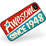 Rubber Case for iphone 4 4s Awesome since 1948, Birthday/Year - Neonblond
