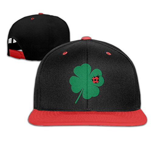 Clover Leaf Hip-Hop Caps With Kids Baseball Hat Boy and Girls (Red Clover Christophers)