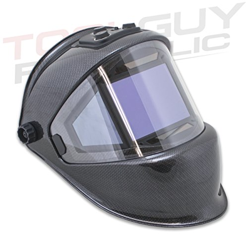 TGR Panoramic 180 View Solar Powered Auto Darkening Welding Helmet - True Color (Carbon Fiber) by Tool Guy Republic (Image #5)
