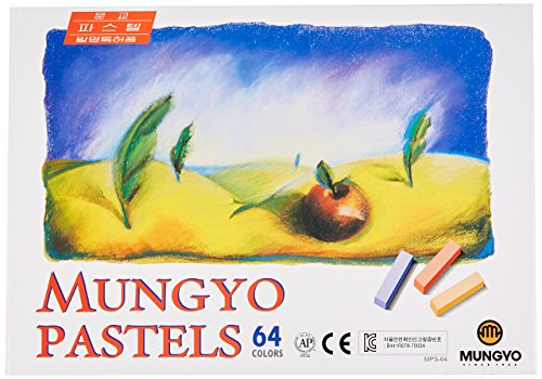 Mungyo Non Toxic Square Chalk, Soft Pastel, 64 Pack, Assorted Colors (Assorted Chalk)