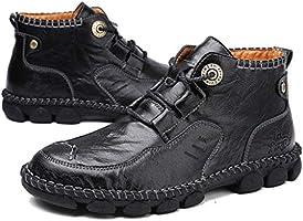 Vaycally Zapato de cuero para hombre Dartmouth Deck Dos tonos Marrón con cordones, Moda Hombre Retro High-Top Inglaterra Zapatos antideslizantes de encaje Casual Botines: Amazon.es: Bricolaje y herramientas