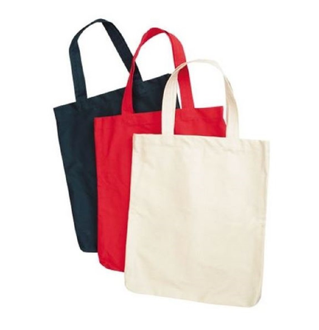 ( 60 PACK) BLACK-RED-WHITE MIX COLOR 100% Cotton Economical Tote Bag, Wholesale Cotton Tote Bag (Mix, 60) by SHOPINUSA