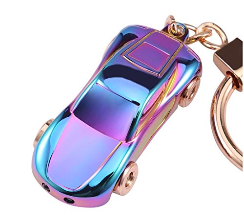Key Chain Flashlight, JOBON Zinc Alloy Metal LED Light Car Keychain Multifunctio Key Ring for Men and Women Creative Best Gifts