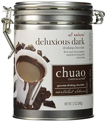 Chuao Gourmet Drinking Chocolate 12 Oz. Tin Can (Deluxious Dark)