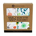 Organic-Muslin-Swaddle-Blanket-by-Margaux-May-Dandelion-Meadow-47-x-47-inch-Ultra-Soft-Muslin-Swaddle-Blankets-Perfect-Baby-Shower-Gift
