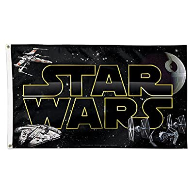 WinCraft 64028126 Star Wars Deluxe Flag, Multicolor, 3' x 5'