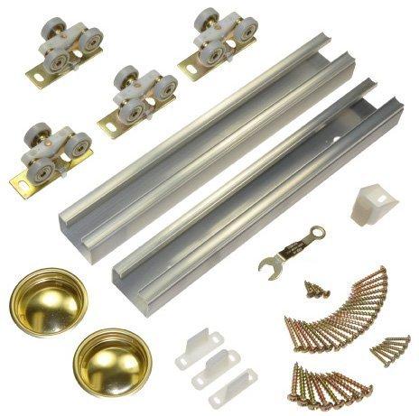 100SD Sliding Bypass Door Hardware (96 In. Length 2 Door System) by Johnson Hardware (Image #3)