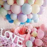 5 Inch Small Pastel Balloons Macaron Assorted Candy Colored Balloons for Rainbow Arch Birthday Baby Shower Party Decor Supplies Helium Balloon Garland Tower - 200pcs