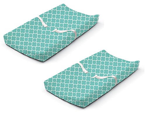 (Summer Infant Ultra Plush Changing Pad Cover, Teal Medallion, 2 Pack)