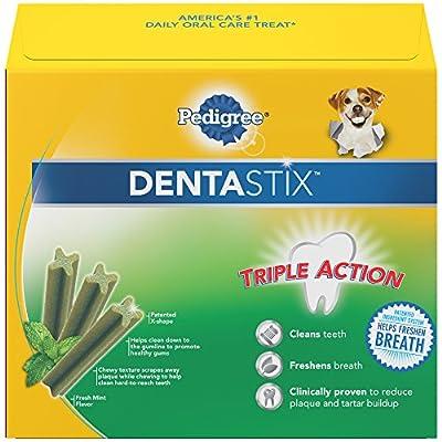 PEDIGREE DENTASTIX Toy/Small Dental Dog Treats Fresh, 1.6 lb. Value Pack (78 Treats)