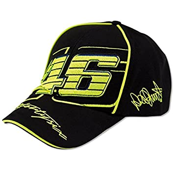 Gorra Valentino Rossi VR46 moto GP 2016 Official Cap Team Rossi The Doctor fortysix 2016, negro: Amazon.es: Deportes y aire libre